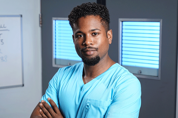 Xavier Duval in Holby City, BBC Pictures