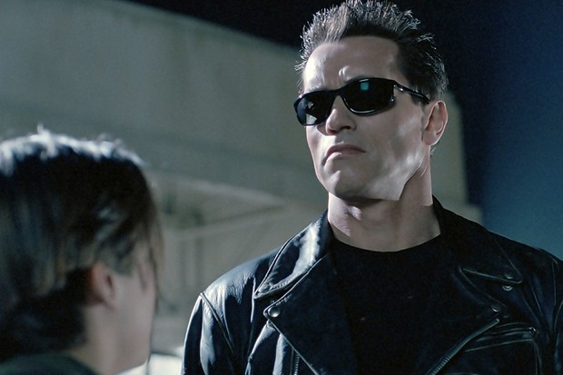 Arnold Schwarzenegger in Terminator 2: Judgement Day (1991), directed by James Cameron