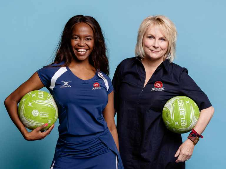 When is All-Star Netball for Sport Relief on TV? Who are the celebrities taking part? Who is presenting? Where is the match taking place?
