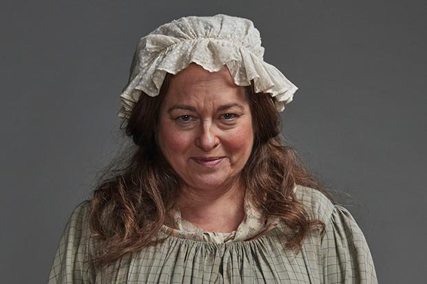 Beatie Edney plays Prudie Paynter in Poldark