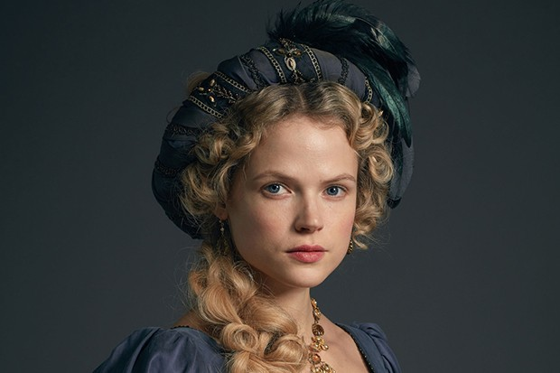 Gabriella Wilde plays Caroline Enys in Poldark