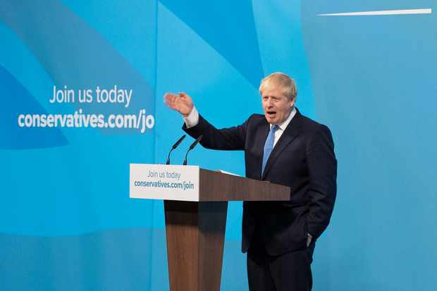 LONDON, ENGLAND - JULY 23: Newly elected British Prime Minister Boris Johnson speaks during the Conservative Leadership announcement at the QEII Centre on July 23, 2019 in London, England. After a month of hustings, campaigning and televised debates the members of the UK's Conservative and Unionist Party have voted for Boris Johnson to be their new leader and the country's next Prime Minister, replacing Theresa May. (Photo by Dan Kitwood/Getty Images)