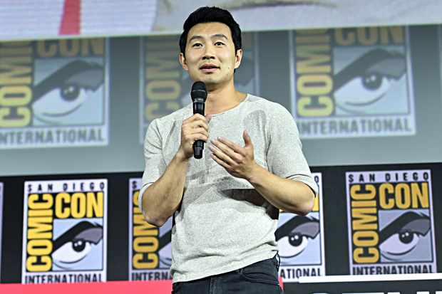 SAN DIEGO, CALIFORNIA - JULY 20: Simu Liu of Marvel Studios' 'Shang-Chi and the Legend of the Ten Rings' at the San Diego Comic-Con International 2019 Marvel Studios Panel in Hall H on July 20, 2019 in San Diego, California. (Photo by Alberto E. Rodriguez/Getty Images for Disney)