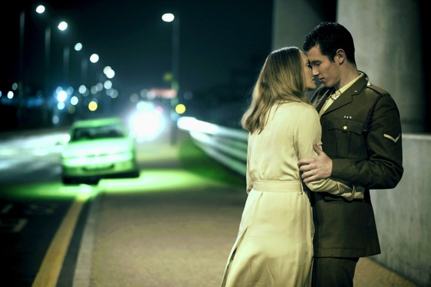 Laura Haddock (Hannah Roberts) and Callum Turner in The Capture - coming soon to BBC One