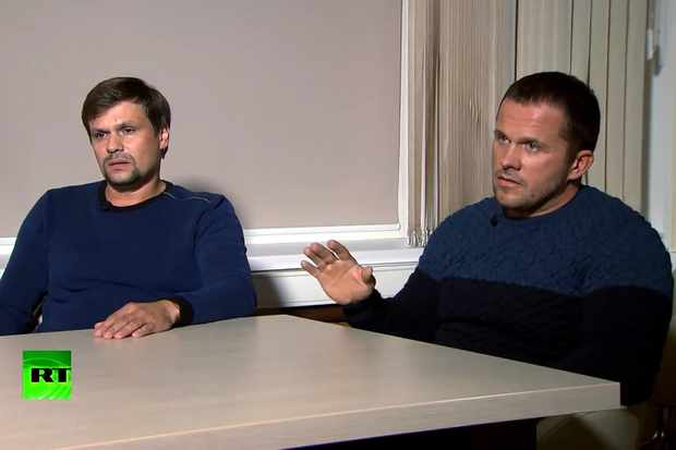 Alexander Petrov and Ruslan Boshirov give interview to Russia Today
