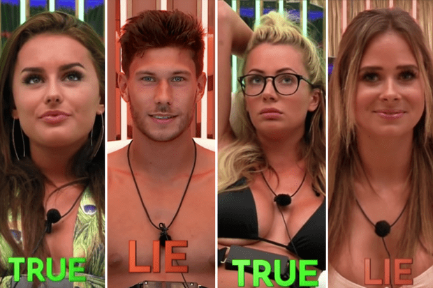 love island lie detector test