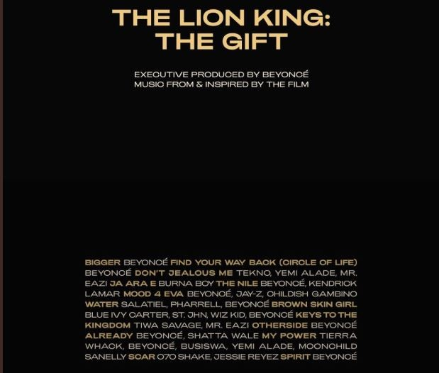 Beyonces The Lion King The Gift Album Full Track List