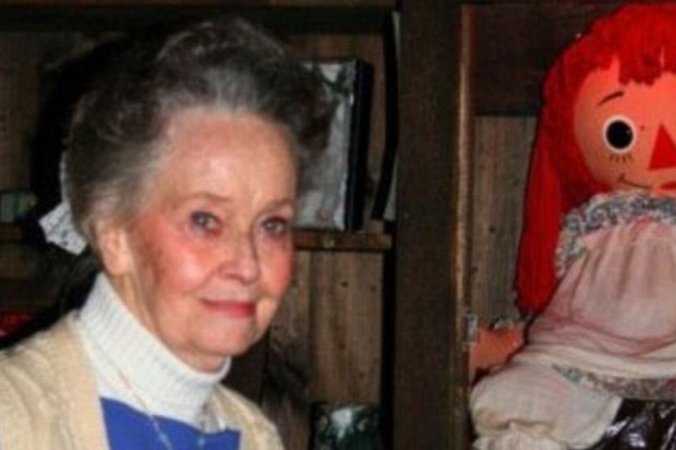 Lorraine Warren with Annabelle