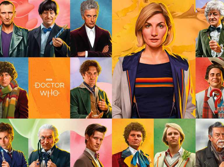 Jodie Whittaker and Doctor Who leads of old look out-of-this-world in new portraits