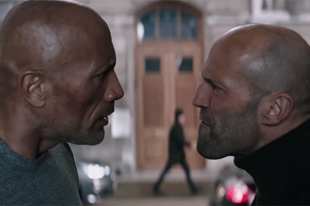 Dwayne Johnson and Jason Statham in Hobbs and Shaw, YouTube