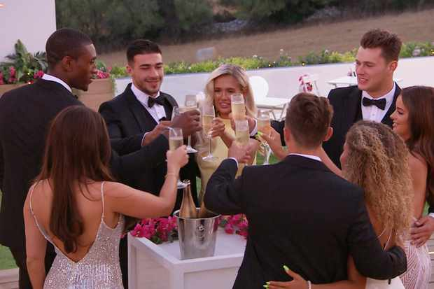 From ITV Studios  Love Island: SR5: Ep49 on ITV2  Pictured: The Islanders at the summer ball.  This photograph is (C) ITV Plc and can only be reproduced for editorial purposes directly in connection with the programme or event mentioned above, or ITV plc. Once made available by ITV plc Picture Desk, this photograph can be reproduced once only up until the transmission [TX] date and no reproduction fee will be charged. Any subsequent usage may incur a fee. This photograph must not be manipulated [excluding basic cropping] in a manner which alters the visual appearance of the person photographed deemed detrimental or inappropriate by ITV plc Picture Desk.  This photograph must not be syndicated to any other company, publication or website, or permanently archived, without the express written permission of ITV Picture Desk. Full Terms and conditions are available on the website www.itv.com/presscentre/itvpictures/terms  For further information please contact: james.hilder@itv.com / 0207 157 3052