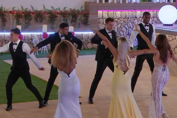 The islanders practise their moves for the Love Island Ball during the final