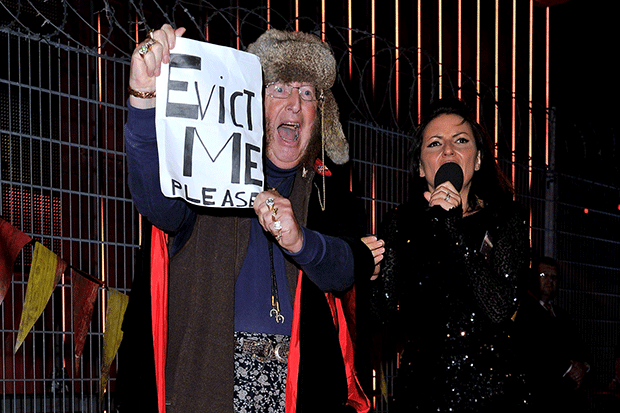 John McCririck with Davina McCall on Celebrity Big Brother