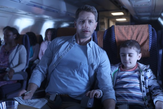 "MANIFEST -- ""Pilot"" Episode 101 -- When Flight 828 lands in New York, Michaela and Ben Stone and the other passengers learn that years have passed, but they haven't aged a day; they reunite with loved ones, piece together their old lives and deal with mysterious voices in their heads."