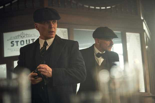 Cillian Murphy (Tommy Shelby) and Paul Anderson (Arthur Shelby) in Peaky Blinders | Series 5 (BBC One) | Episode 02