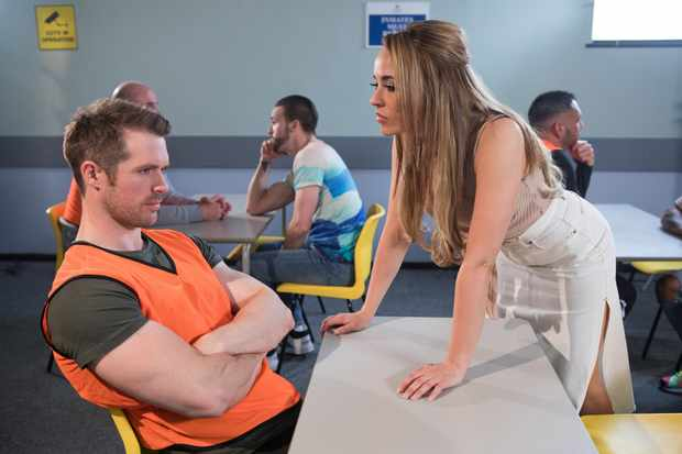 hollyoaks laurie shelby sinead shelby in prison