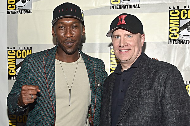 Blade star Mahershala Ali with Marvel Studios President Kevin Feige