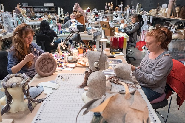 A props and puppetry workshop for The Dark Crystal: Age of Resistance (Netflix)