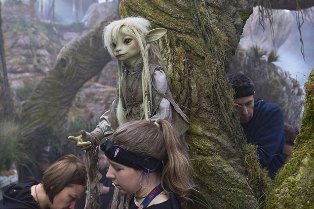 The Dark Crystal: Age of Resistance BTS still of Deet (Nathalie Emmanuel) (Netflix)