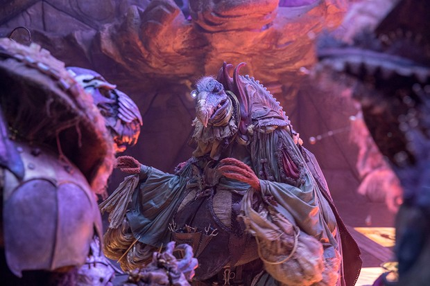 A group of Skeksis in The Dark Crystal: Age of Resistance (Netflix)