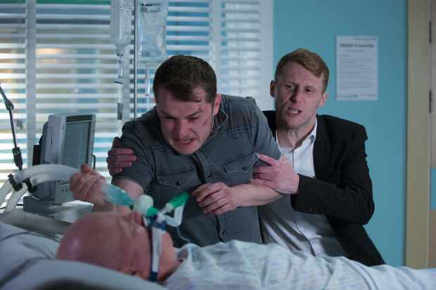 eastenders jay brown tries to stop ben mitchell killing phil mitchell