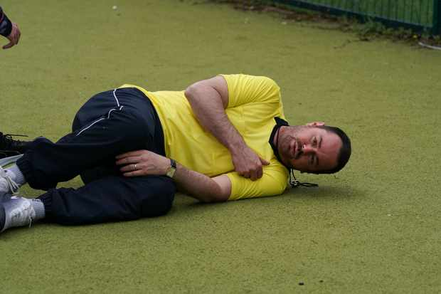 eastenders mick carter collapse