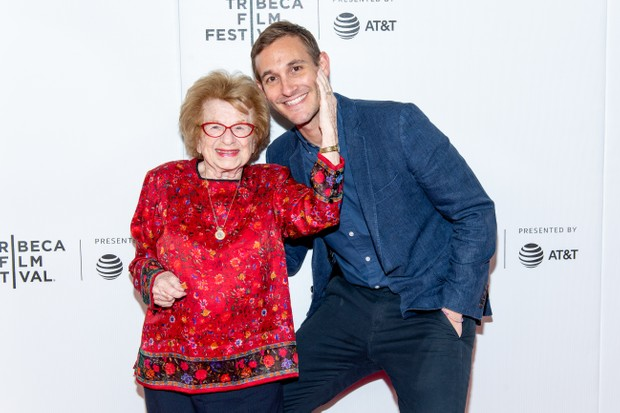 """NEW YORK, NEW YORK - APRIL 27: Dr. Ruth and Ryan White attend """"Ask Dr Ruth"""" during the 2019 Tribeca Film Festival at Spring Studio on April 27, 2019 in New York City. (Photo by Roy Rochlin/Getty Images for Tribeca Film Festival)"""
