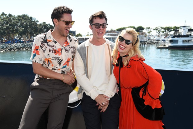 SAN DIEGO, CALIFORNIA - JULY 19: Ben Aldridge, Jack Bannon and Paloma Faith attend the #IMDboat at San Diego Comic-Con 2019: Day Two at the IMDb Yacht on July 19, 2019 in San Diego, California. (Photo by Michael Kovac/Getty Images for IMDb)