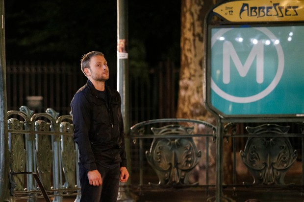 German actor Max Riemelt is depicted on the set of Netflix TV's sci-fi series