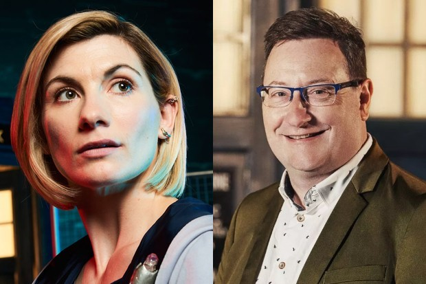 Jodie Whittaker and Chris Chibnall (Ray Burmiston, BBC)