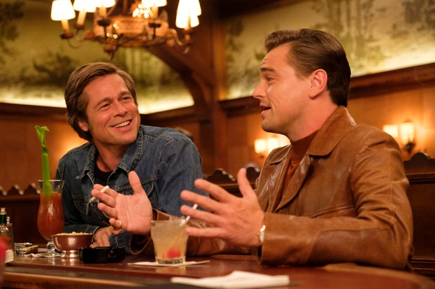 Brad Pitt and Leonardo DiCaprio star in ONCE UPON TIME IN HOLLYWOOD.