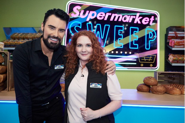 Rylan and Jennie on Supermarket Sweep (ITV)