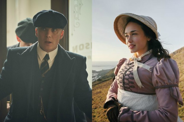 Peaky Blinders' Cillian Murphy and Sanditon's Rose Williams (BBC, ITV)