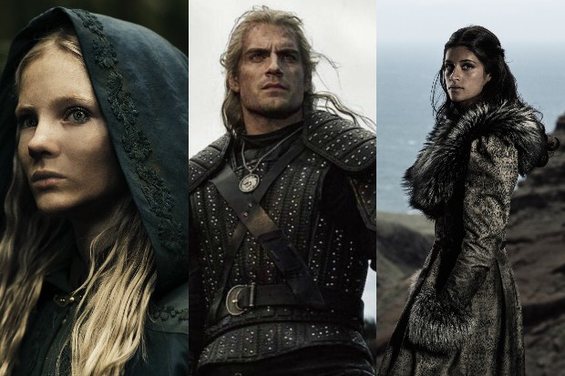 The Witcher cast - Henry Cavill, Myanna Buring, Freya Allan and Anya