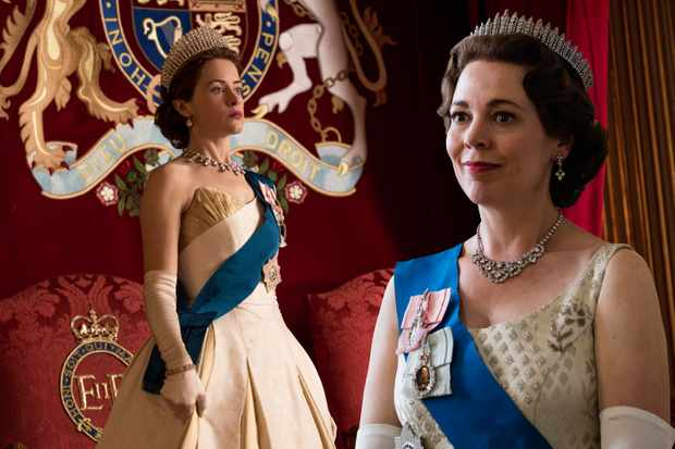The Crown Olivia Colman and Claire Foy