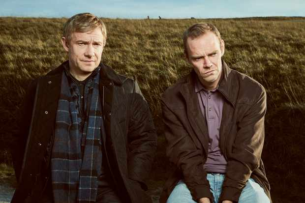 From ITV Studios  A CONFESSION on ITV Episode 1  Pictured: MARTIN FREEMAN as Steve Fulcher and JOE ABSOLOM as Christopher Halliwell.  This photograph must not be syndicated to any other company, publication or website, or permanently archived, without the express written permission of ITV Picture Desk. Full Terms and conditions are available on  www.itv.com/presscentre/itvpictures/terms   For further information please contact: Patrick.smith@itv.com 0207 1573044