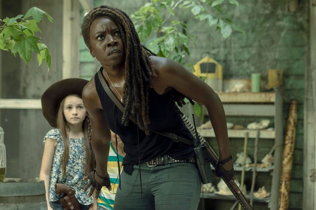 Danai Gurira as Michonne in The Walking Dead season 10