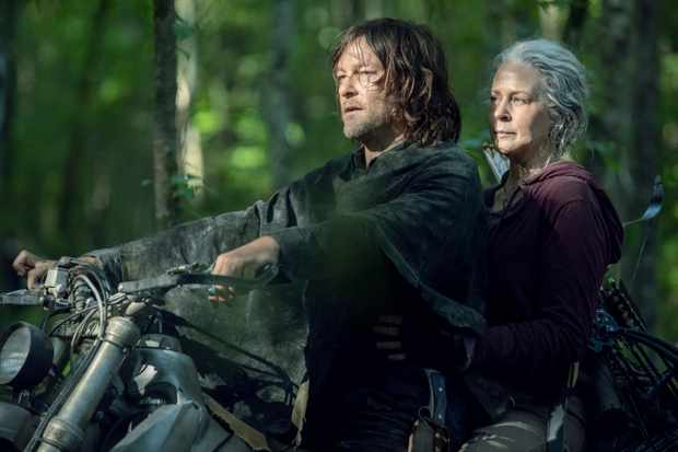 Norman Reedus as Daryl Dixon, Melissa McBride as Carol Peletier - The Walking Dead _ Season 10 - Photo Credit: Jackson Lee Davis/AMC