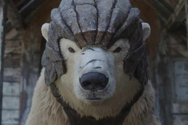WARNING: Embargoed for publication until 00:00:01 on 18/07/2019 - Programme Name: His Dark Materials - TX: 18/07/2019 - Episode: n/a (No. n/a) - Picture Shows:  Iorek Byrnison - (C) © Bad Wolf - Photographer: screen grab