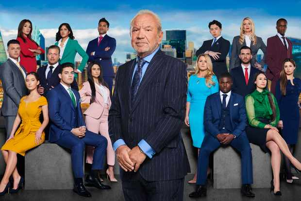 Lord Sugar with the 2019 candidates