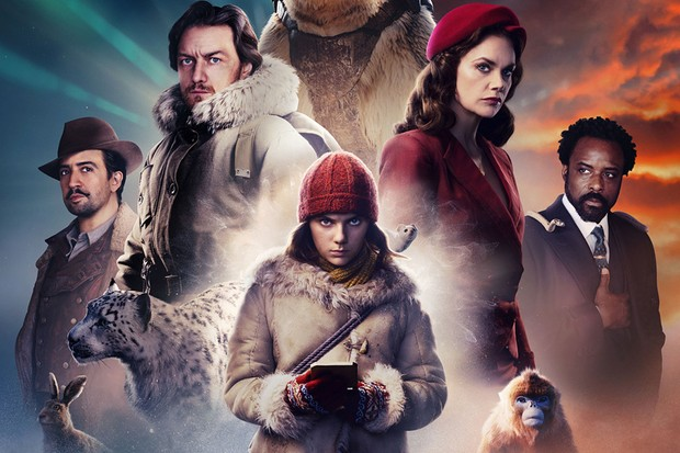 WARNING: Embargoed for publication until 00:00:01 on 26/10/2019 - Programme Name: His Dark Materials - TX: n/a - Episode: n/a (No. 1) - Picture Shows:  Hester, Lee Scoresby (LIN-MANUEL MIRANDA), Stelmaria, Lord Asriel (JAMES McAVOY), Iorek Byrnison, Pantalaimon, Lyra Belacqua (DAFNE KEEN), Mrs Coulter (Ruth Wilson), Golden Monkey, Lord Boreal (ARIYON BAKARE) - (C) Bad Wolf/HBO - Photographer: Alex Bailey/Marco Grob