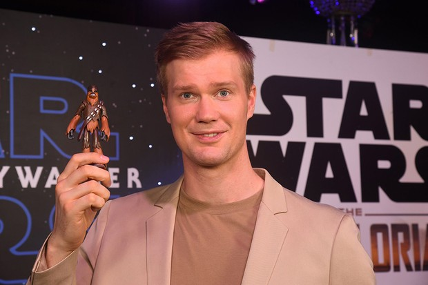 Joonas Suotamo who plays Chewbacca attends the global live-stream event at Pinewood Studios revealing new Star Wars merchandise, on September 26, 2019 in Iver Heath, England. The live-stream event takes place ahead of the global product launch on Triple Force Friday happening October 4, 2019.