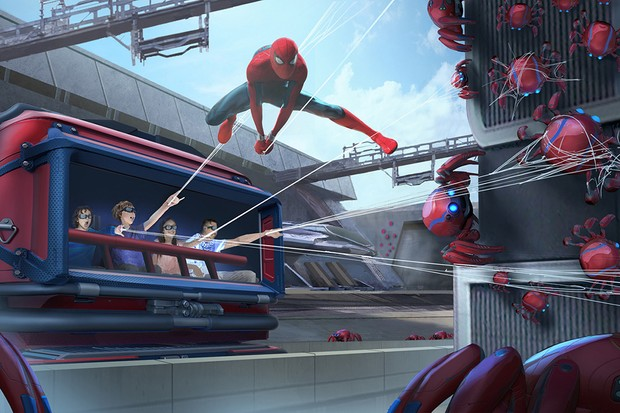 An Artist Concept for the new Spider-Man attraction at Disneyland Paris (Disney)