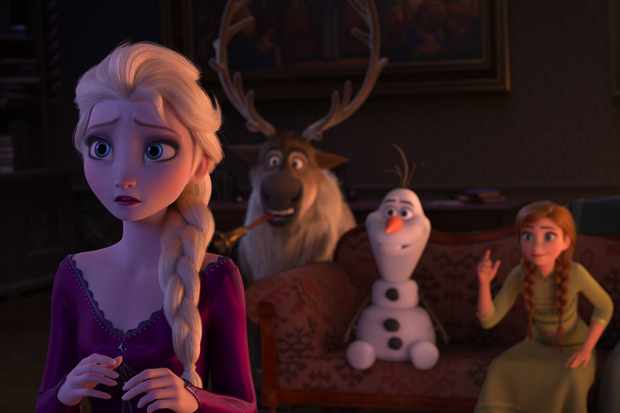 """In """"Frozen 2,"""" Elsa is grateful her kingdom accepts her and she works hard to be a good queen. Deep down, she wonders why she was born with magical powers. The answers are calling her, but she'll have to venture far from Arendelle to find them. Featuring the voices of Idina Menzel, Kristen Bell, Jonathan Groff and Josh Gad, Walt Disney Animation Studios' """"Frozen 2"""" opens on Nov. 22, 2019. © 2019 Disney. All Rights Reserved."""