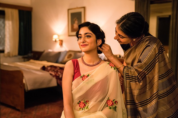 First look image of Lata (Tanya Maniktala) and Mrs Rupa Mehra (Mahira Kakkar) in BBC One's A Suitable Boy