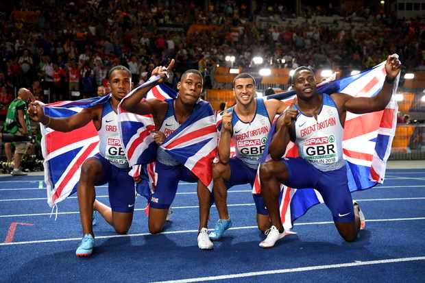 British 4x100m relay team