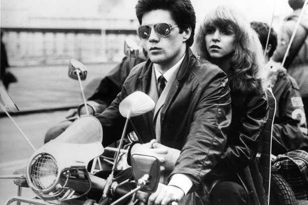 1st September 1979:  In a scene from the film 'Quadrophenia,' Lesley Ash is driven along the esplanade by her mod boyfriend.  (Photo by Central Press/Getty Images)