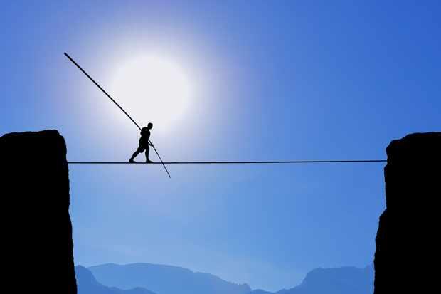 Tightrope Walker Balancing