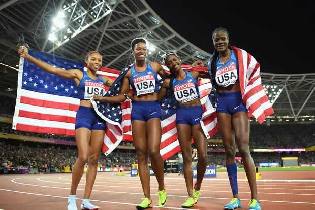 American 4x100m relay team