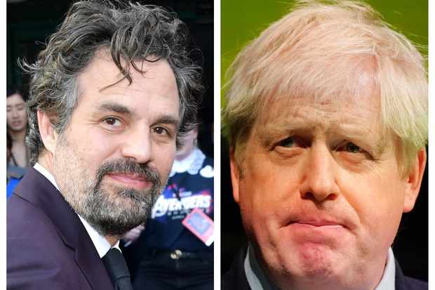 Mark Ruffalo Boris Johnson Hulk (Getty)